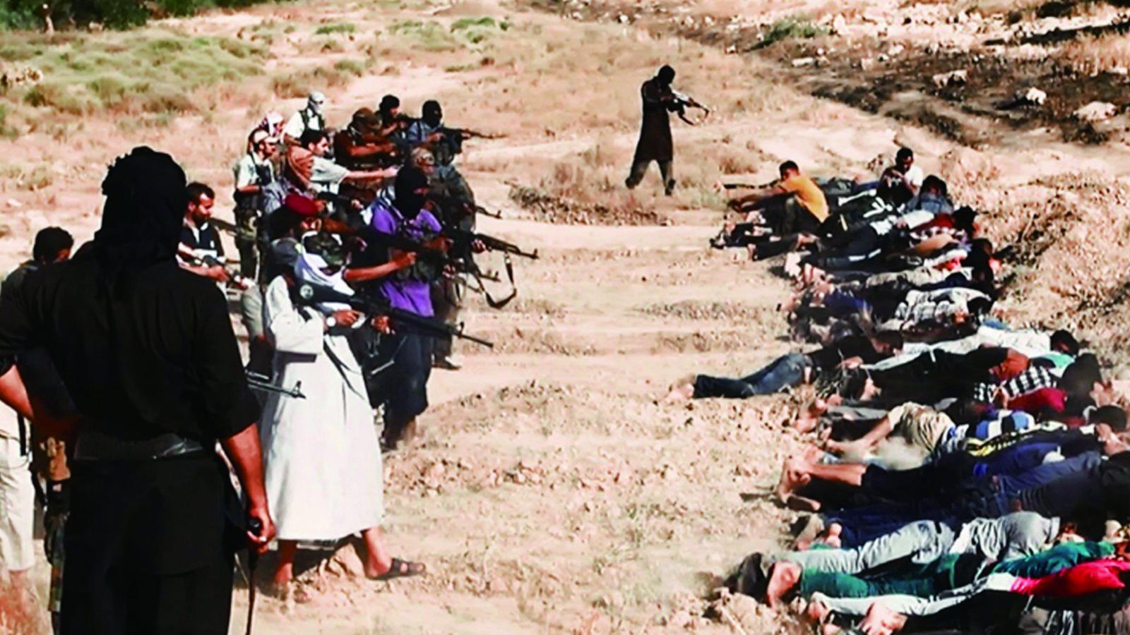(ISIS集體屠殺宗教異己。)