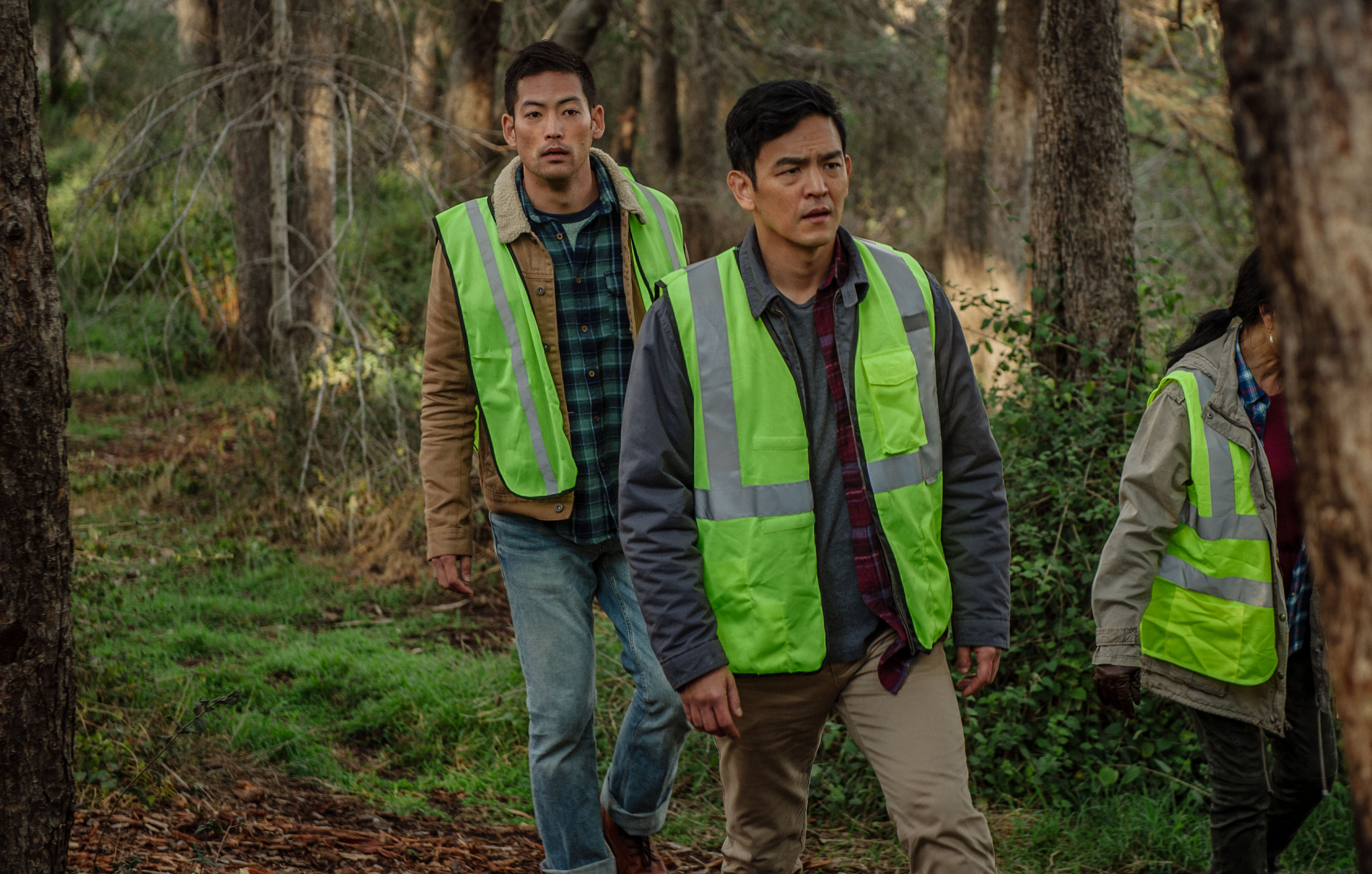 Joseph Lee (left) and John Cho star in Screen Gems' SEARCHING.